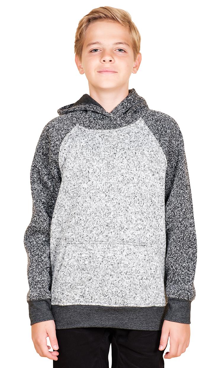 Brooklyn Surf Men/'s Sherpa Cozy Knit Zip Hoodie S M L XL XXL Black Marl Gray